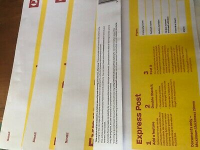 20 X DL AUST POST. EXPRESS POST WITHIN AUSTRALIA DOCUMENT ENVELOPES (Small)