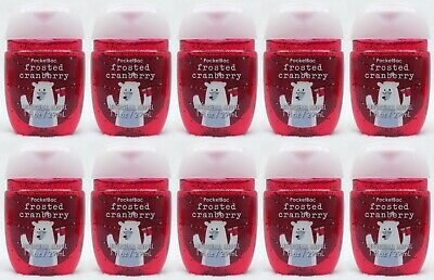 10 Bath & Body Works FROSTED CRANBERRY PocketBac Anti-Bactarial Hand Gel