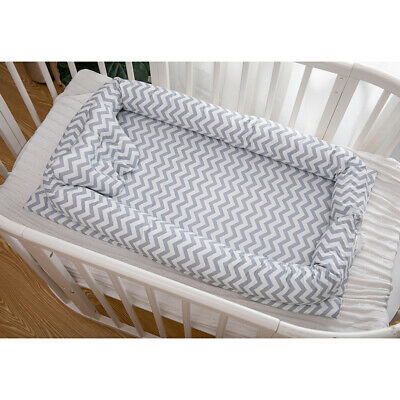 Baby Bassinet Grey Wave Baby Lounger Bassinet For Newborn Baby Portable Crib