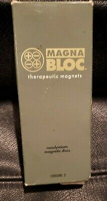Amway Magna Blocs Therapeutic Ceramic 3 Magnets in Case Pain Management Neodymiu