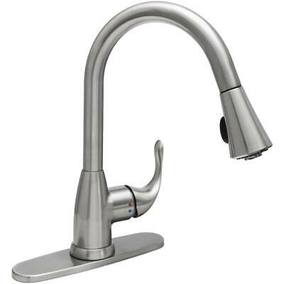 Glacier Bay Market Single Handle Pull Down Sprayer Kitchen Faucet In Stainless 39 36 Picclick Uk