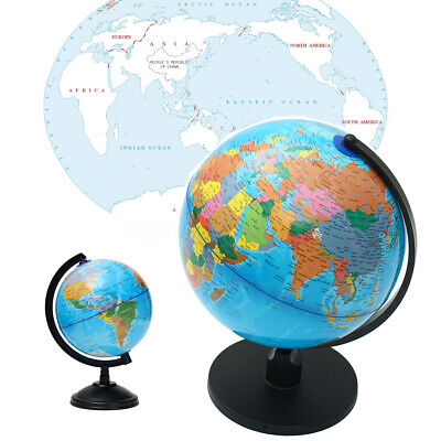 25CM Rotating Earth World Globe Science Educational Geography Country Base Atlas