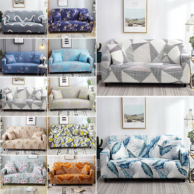 1/2/3/4 Seater Elastic Sofa Covers Slipcover Stretch Couch Protector Sofa Decor