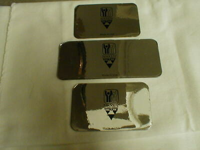 3 Rectangular NIKKEN Magnets Silver