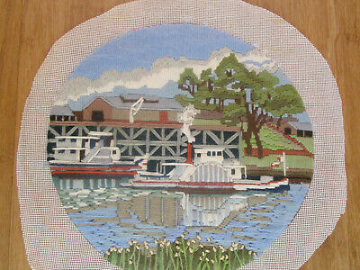 Completed Long Stitch Of A Paddle Boat & A Launch 27.5Ms High X 29Cms Wide