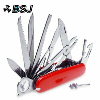 Red Pocket Army Folding Multi-Use Tool Camping Survival 31-use Swiss ! New