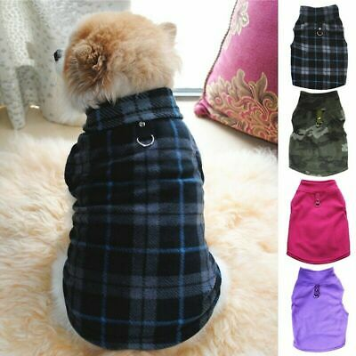 Pet Dog Fleece Harness Shirt Vest Puppy Warm Jumper Sweater Coat Jacket Apparel