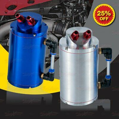 QUALITY Aluminium Engine OIL CATCH BOTTLE PCV Reservoir Cylinder Bottle Can Tank