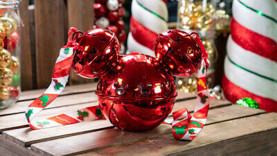 Disney Parks Christmas 2019 Light Up Icon Mickey Jingle Bell Ornament Sipper
