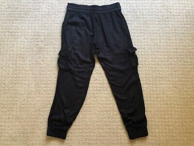 Girls Miss Understood Black Cargo Pants Size 12 Good Condition