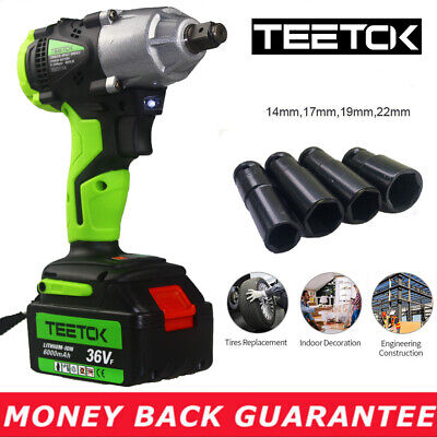 460Nm Brushless Cordless Impact Wrench Kit 1//2 Driver Li-ion Battery 6.0 Ah with LED Light with 29pcs Accessories and One Carry Case 2 Speed