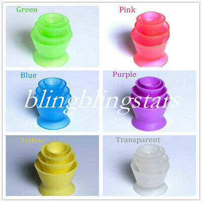 4 Pcs/Set Dental Lab Silicone Mixing Bowl Cup Silicone Rubber Mixing Bowl Color