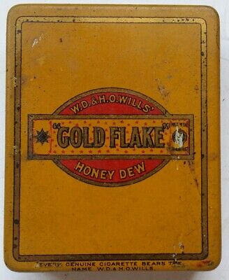 Gold Flake Honey Dew Tobacco Tin In Very Good Condition