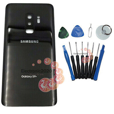 OEM Battery Back Door Glass Cover Camera Lens For Samsung Galaxy S9 Plus Black