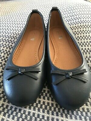 navy blue girls Leather size 3 shoes john lewis