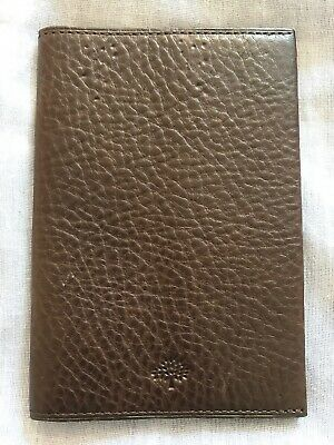 Genuine Mulberry Passport Cover - Never Used - Brown
