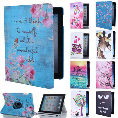 For Apple iPad 7 2019 7th Generation 10.2-inch Smart Case 360° Rotating Cover