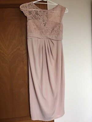Asos Pink Maternity Occasion Dress Size 8