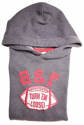 ABERCROMBIE & FITCH Girls Hoodie Jumper 15-16 Years XL Grey Cotton  O202