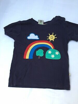 Frugi Cotton Tshirt 18-24 Months Rainbow
