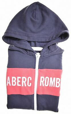 ABERCROMBIE & FITCH Girls Hoodie Sweater 11-12 Years Black Cotton  AM12