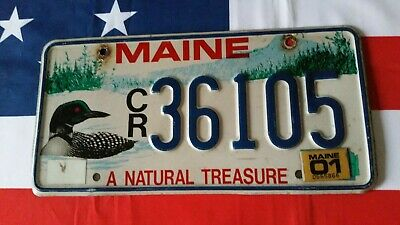 Plaque d'immatriculation Maine CR 36105 US USA license plate