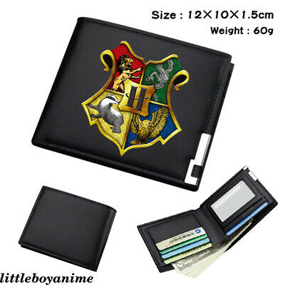 Harry Potter Hogwarts PU Wallet Bifold Short Card Holder Boys Girls Purse Gifts