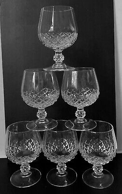 6 Brandy Snifters Cristal D'Arques Longchamp 24% Lead Crystal France New other