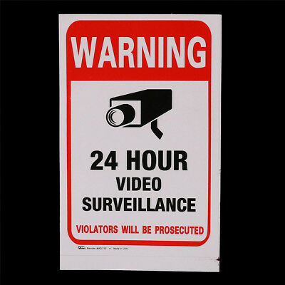 5pcs 24H CCTV Video Camera System Security Warning Sign Sticker High Quality  ob