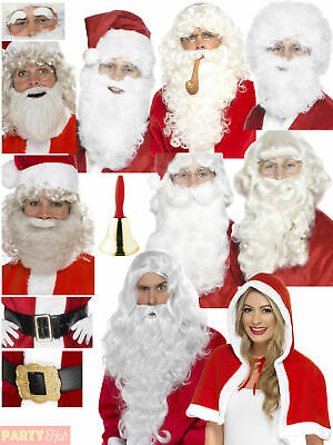 DELUXE SANTA ROBE WITH BELT BEARD Father Christmas Fancy Dress Outfit 42412