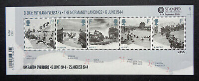 2019 - Great Britain - D-Day Landings Mini-Sheet With Stampex Overprint