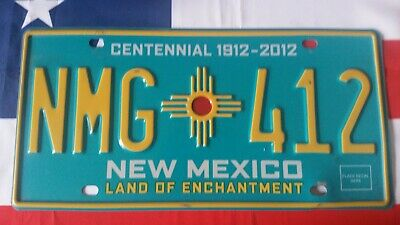 Plaque d'immatriculation New Mexico NMG 412 US USA license plate