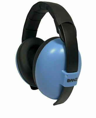 Baby Banz Hearing Protection Earmuffs for Infants & Toddlers - Blue EUC