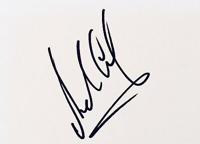 Andy Gray HAND SIGNED White Card - Aston Villa Everton Wolves *In Person* COA