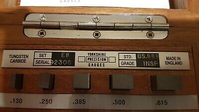 Yorkshire Guages Engineering Measuring Blocks / Slips 'Imperial ' (Inspection)