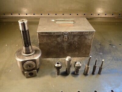 "Bridgeport No. 2 Offset Boring Head: 3-1/4"" Body R-8 Shank w/ Case & Accessories"