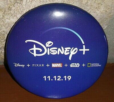 2019 Disney Parks Exclusive Disney + Plus Launch Day Button Star Wars Marvel New