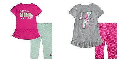 New Nike Little Girls 2-Piece Tunic Top & Leggings Set MSRP $38.00 and $42.00