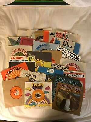 AWESOME LOT OF 1950'S -1990's 45RPM- 44 RECORDS (23 in Original Sleeves)
