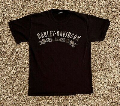 Harley-Davidson Mens T-Shirt Small Black Spell Out Logo Las Vegas Nevada EUC