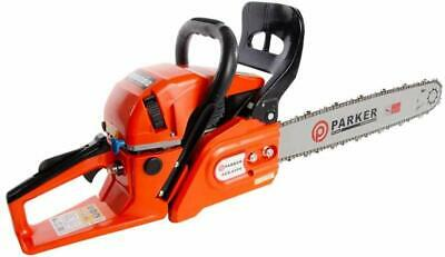 """62cc 20"""" Petrol Chainsaw 2 Stroke 2x Chains Carry Bag Bar Cover Tool Kit AWARDED"""