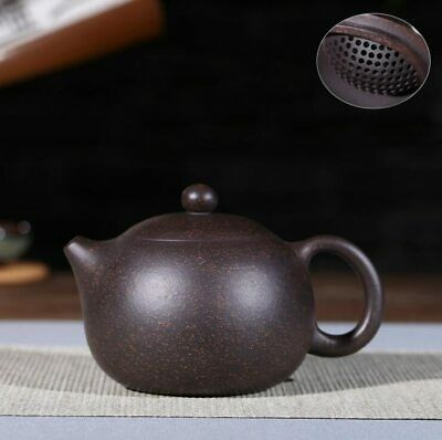 Yixing Teapot Xishi pot Zisha Clay 黑金刚 Black Tea Pot Chinese Kung Fu 188 holes