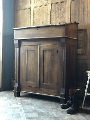 Antique Railroad Desk, Standing Desk, Entryway Primitive Wood Furniture