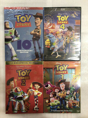 Toy Story 1 2 3 4 DVD Bundle Set Complete series 1-4