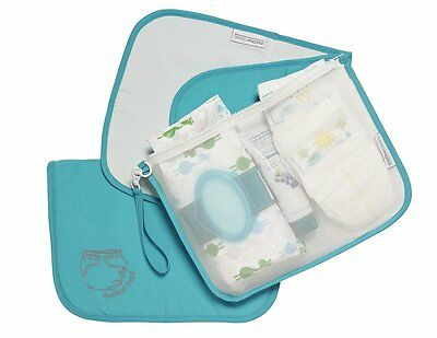 Mother Load Diaper Orgainze Bag with Changing Pad Blue-Perfect for On-The-Go!