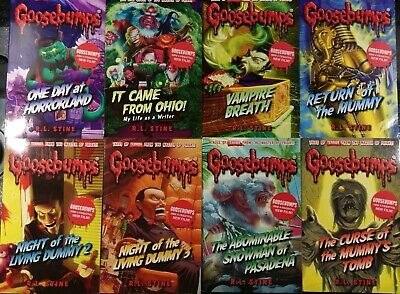 Goosebumps 8 Book Set Collection Children Set By R L STINE