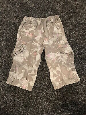New Look Girls Grey 3/4 Length Trousers Age 6 Years