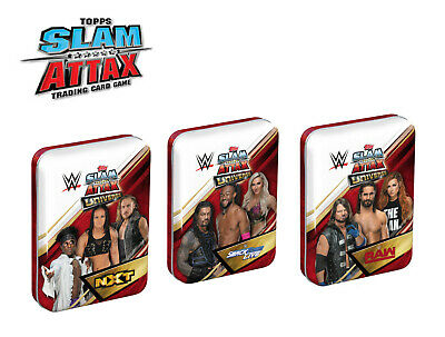 WWE Slam Attax Universe Mini Tins 35 trading cards inc limited edition NEW