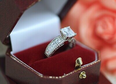 Antique Art Deco Jewellery Ring White Sapphires Vintage Jewelry N or 7