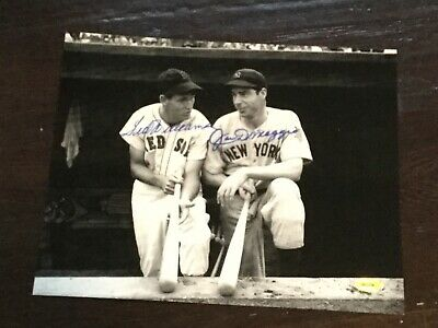 JOE DIMAGGIO / TED WILLIAMS  SIGNED 8X10 PHOTO..... Certified